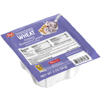 Post® Shredded Wheat Frosted Blueberry Cereal® 2 oz. Bowl