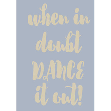 Sweetumswalldecals When in Doubt Dance It Out Wall Decal Color: Beige