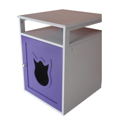 Pethuphup Kitty Cat Litter Box Color: Purple/White