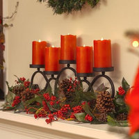 Three Posts Wax Flameless Candle Size: 9
