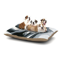 East Urban Home NL Designs 'Happy Engagement' Dog Pillow with Fleece Cozy Top Size: Large (50