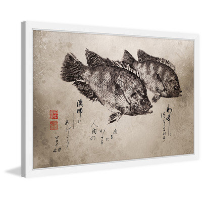 Marmont Hill Inc Marmont Hill - 'Tilapia Christ' by Dwight Hwang Framed Painting Print
