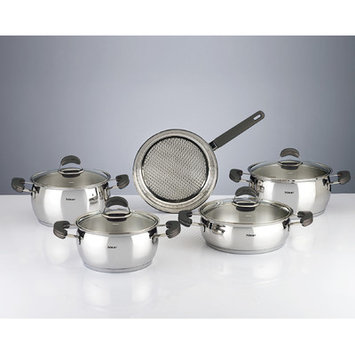 Hisr Monaco 9 Piece Stainless Steel Cookware Set Color: Black