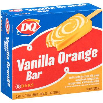 DQ® Vanilla Orange Bar Ice Cream Bars 6-2.5 fl. oz. Box