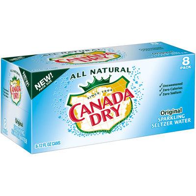 Canada Dry® Original Sparkling Seltzer Water 8-12 fl. oz. Cans