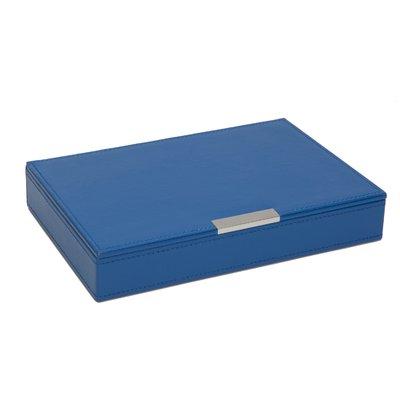 Wolf Designs Large Stackable Tray with Lid in Blue