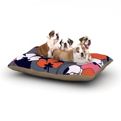 East Urban Home Gabriela Fuente 'Pop Flowers' Dog Pillow with Fleece Cozy Top Size: Small (40