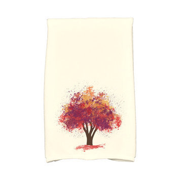 Loon Peak Flipping for Fall Bounty Hand Towel Color: Purple