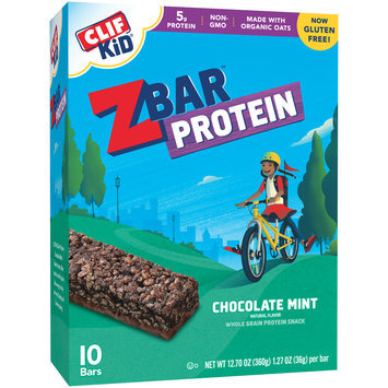 Clif Kid® ZBar™ Protein Chocolate Mint Whole Grain Protein Snacks 10-1.27 oz. Bars