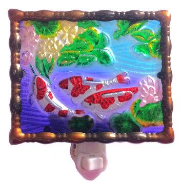 Continental Art Center Fishes Night Light