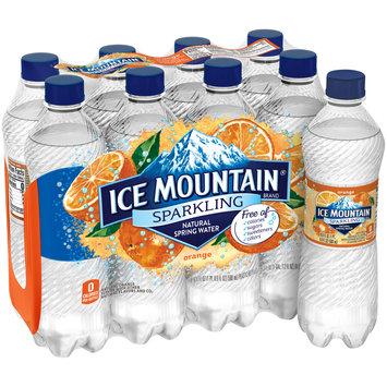 Ice Mountain® Orange Sparkling Natural Spring Water 8-16.9 fl. oz. Bottles