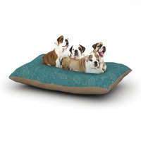 East Urban Home Emma Frances 'Autumn Leaves' Dog Pillow with Fleece Cozy Top Size: Small (40
