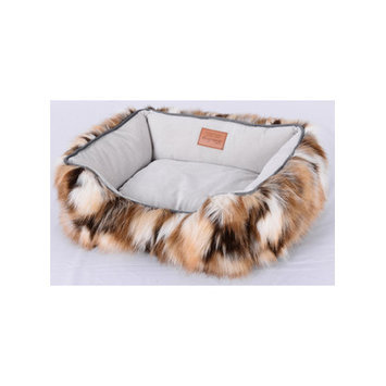 Lindsey Home Fashion Faux camel Fur Dog Bed Size: Small (18