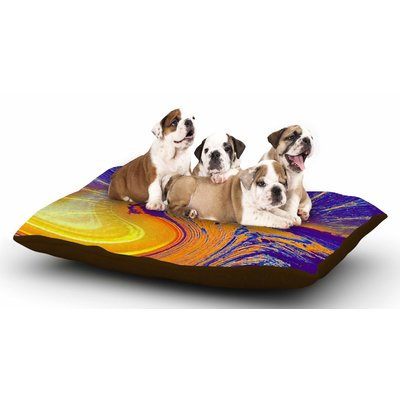 East Urban Home Infinite Spray Art 'Devreux' Nautical Dog Pillow with Fleece Cozy Top