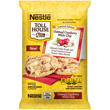 Nestle TOLL HOUSE Oatmeal Cranberry White Chip Cookie Dough 16 oz