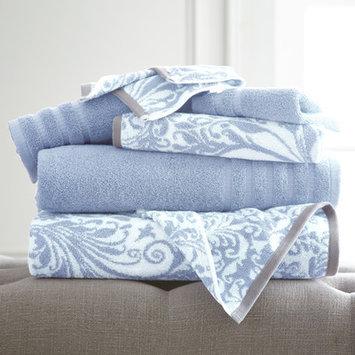 House Of Hampton Filigree Swirl 6 Piece Towel Set Color: Blue