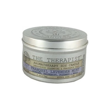 The Therapist Candles No. 06 Tranquil Lavender Mint Soy Scent Jar Candle