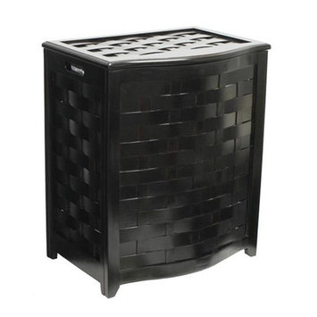 Darby Home Co Bowed Front Laundry Hamper Finish: Black