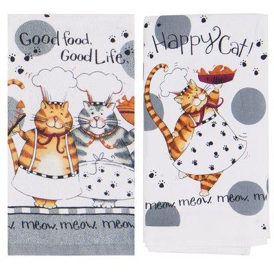 Red Barrel Studio 2 Piece Happy Cat Hand Towel Set