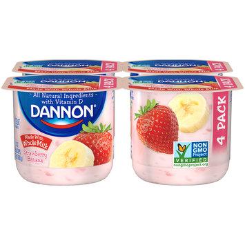 Brand Dannon® Blended Whole Milk Yogurt Strawberry Banana 5.3oz 4pk