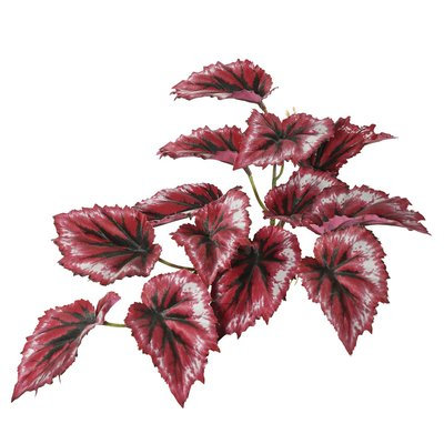 Bloomsbury Market Artificial Red Foliage Begonia Plant