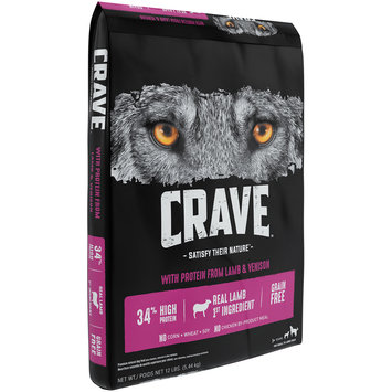 Crave™ with Protein from Lamb & Venison 1+ Years Premium Dog Food 12 lb. Bag