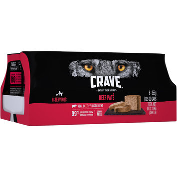 Crave™ Beef Pate Premium Dog Food 6-12.5 oz. Cans