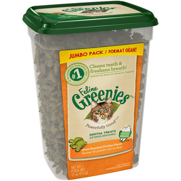 Feline Greenies™/MC Oven Roasted Chicken Flavor Cat Dental Treats 11 oz. Tub