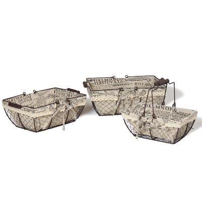 August Grove Multi-Purpose Rectangular Metal 3 Piece Basket Set