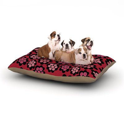East Urban Home Jane Smith 'Garden Pods Repeat' Floral Dog Pillow with Fleece Cozy Top Size: Large (50