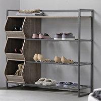 Homestar 4 Shelf Shoe Rack