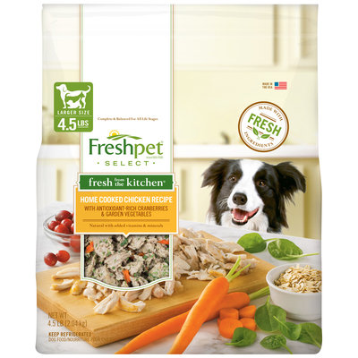 Freshpet Fresh from the Kitchen Chicken & Veg Dog Food 4.5 lb.