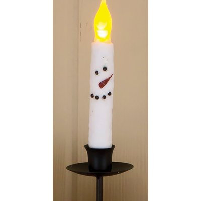 The Holiday Aisle Snowman Unscented Taper Candle (Set of 4)