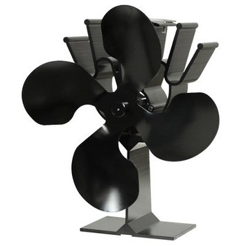 Ashley Hearth Products 4 blade Anodized Aluminum Thermoelectric Fan