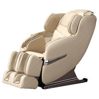 Symple Stuff Faux Leather Massage Chair Upholstery: Cream