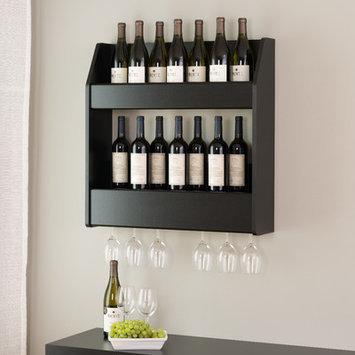 Red Barrel Studio Cottingham 24 Bottle Wall Mounted Wine Rack Finish: Black