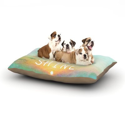 East Urban Home Alison Coxon 'You Are My Sunshine' Dog Pillow with Fleece Cozy Top Size: Small (40