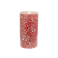 Bloomsbury Market Crackled Mosaic Virtual Flame Unscented Flameless Candle Size: 8