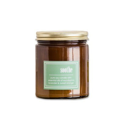 Winston Porter Scented Amber Glass Jar Candle with Gold Lid