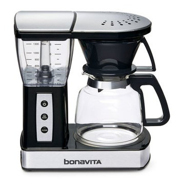 Bonavita BV01002US 8-Cup Glass Carafe Coffee Brewer in Stainless Steel/Black