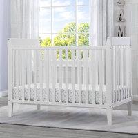 Serta Mid-Century Modern Classic 5-in-1 Convertible Crib, Bianca White