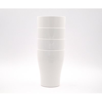EcoSouLife PLAnet Tall Cup 17oz 4CT White