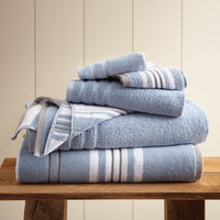 Latitude Run Racer Stripe 6 Piece Towel Set Color: Blue