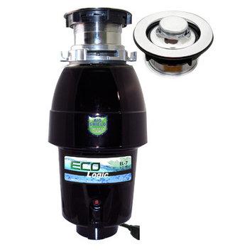 Joneca Corporation 1/2 HP Eco-Logic 7 Mid-Duty Designer Series Food Waste Disposer with Polished Chrome Sink Flange