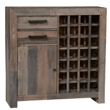 Loon Peak Marina 28 Bottle Floor Wine Cabinet Finish: Charcoal