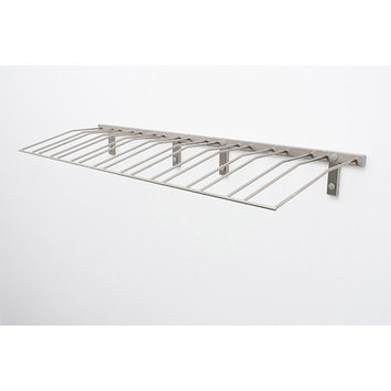Vintageview Wall Series Presentation Row 144 Bottle Wall Mounted Wine Bottle Rack Finish: Brushed Nickel