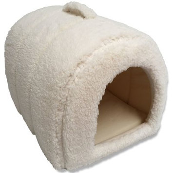 Precioustails Dog and Cat Hooded/Dome Color: Ivory
