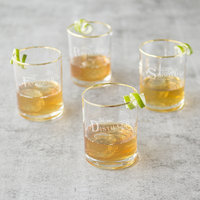 Mint Pantry Winton Gold Rim 11 oz. Old Fashioned Glass