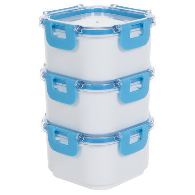 Trademark Global Llc Portable Insulated Lunch Box Storage Set with 3 Containers BPA Free