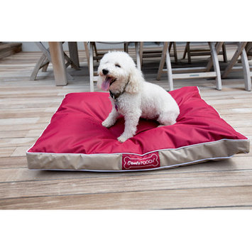 Wildon Home Abbot Bridge In/Outdoor Reversible Mat Color: Red / Beige, Size: Large (40